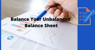 How To Fix Comparative Balance Sheet